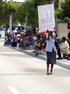 Photo of sign evangelism